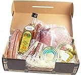 Schwarzwald Metzgerei - Geschenkset 'Brotzeit' mit verschiedenen Wurtsspezialitäten, einem Gourmet-Senf und hervorragendem Williams Schnaps - 9-teilig