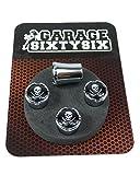 Garage-SixtySix Ventilkappen Skull Swords Modell Milwaukee Chrom