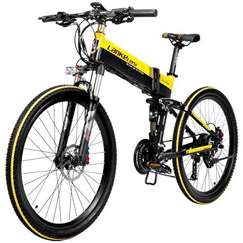 Lixada 500W 26 Inch Bicicleta Eléctrica Plegable con Asistencia Eléctrica, Bicicleta Eléctrica, 40 km/h, Velocidad Máxima, Rango de 75 a 100 km
