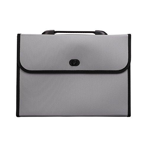 ドキュメントケース ファイルバッグ A4ファイルケース 多ポケット 13仕切り 分類シール付き 文書 書類入れ 資料整理 手提げ ファイスカバン PPドキュメントファイル 軽量 丈夫 携帯やすい キャリングケース 出張 収納袋 オフィス 文具 事務用品 グ
