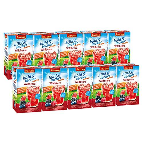 Milford kühl & lecker active Wildbeere, 20 Teebeutel / 10er Pack