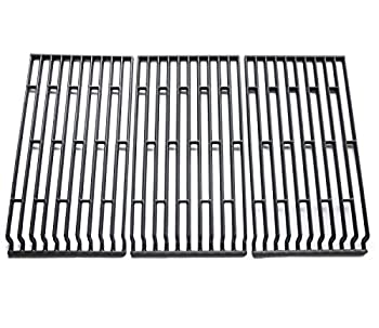 Hongso PCE693 Cast Iron Cooking Grid Replacement for Fiesta Blue Ember Blue Ember FG50069LP Blue Ember FG50069NG FG500057-103 FG50057-703NG FG50069 Gas Grill Models Set of 3