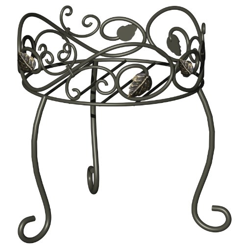 PANACEA PRODUCTS CORP-IMPORT 11.5-Inch-High Scroll/Ivy Style Plant Stand