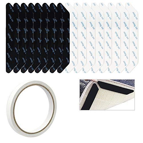 LYTIVAGEN 16 Stück Teppich Aufkleber Antirutschmatte für Teppich Waschbar Antirutsch Teppichgreifer mit Doppelseitiges Klebeband rutschfeste Teppich Ecke Anti Rutsch Pads Rutschschutz für Teppich