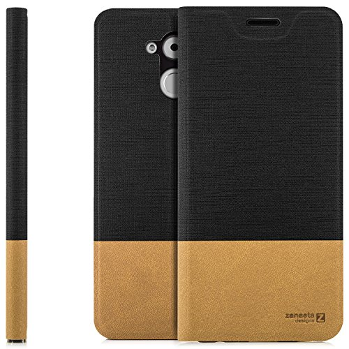 zanasta Custodia Huawei Honor 6C Cover Flip Wallet Designs Case Copertura con Portafoglio - Pieghevole con Porta Carte, Alta qualità   Nero