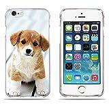 Fubaoda Coque iPhone 6(6s), [Chiot Rouge-Blanc] Ultra Slim TPU Silicone Haute Qualité Téléphone Portable Coque pour iPhone 6(6s)