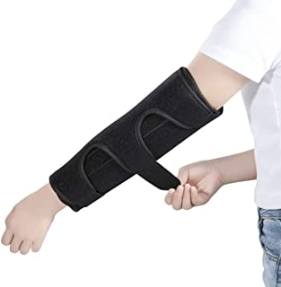 Elbow Brace Support Splint for Cubital Tunnel Syndromean and Arthritis Pain Relief , Medical Stabilizer Brace for Fix Elbow, Prevent Excessive Bending at night, Fits Both Arms and Unisex (Medium)