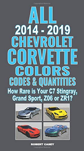 All 2014-2019 Chevrolet Corvette Colors, Codes & Quantities: How Rare is Your C7 Stingray, Grand Sport, Z06, or ZR1?