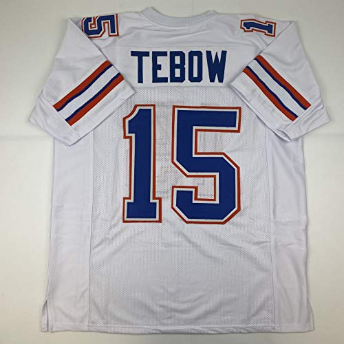 Unsigned Tim Tebow Florida White Custom Stitched College Football Jersey Size Men's XL New No Brands/Logos
