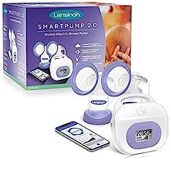 Lansinoh SmartPump 2.0 breast pump on a white background