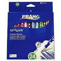 Prang Groove 3.3mm 切削済み芯 色鉛筆 Set of 24