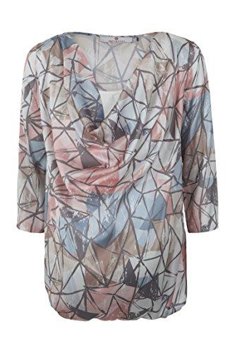 bellybutton Schwangerschaftsmode Damen Tunika 1/1 Arm Bluse, Mehrfarbig (Allover 0003), 36