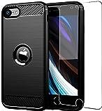 Funda para iPhone SE 2020, iPhone 8, iPhone 7/6/6s, Folmeikat con protector de pantalla a prueba de golpes, protector de pantalla para iPhone SE 2020/8/7 funda de 4.7' iPhone 7 Negro