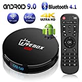 Android TV Box 9.0【4G+64G】 Boitier Android TV de Bluetooth 4.1 L1 Max RK3318...