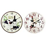 By SIGRIS Reloj Vino 34Cm.2Difer. Incluye 2 Unidades Adorno Pared Relojes Colección Vino Y Cerveza Signes Grimalt Decor And Go