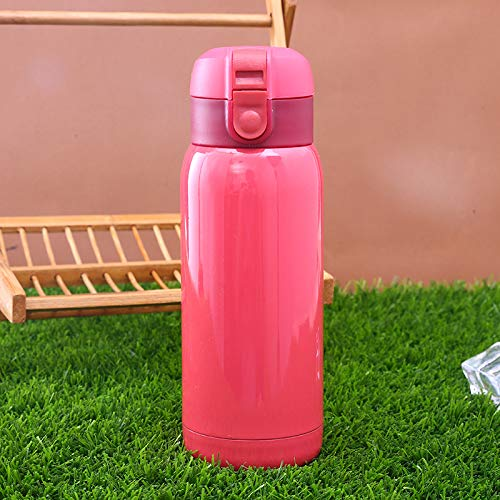 dongzhifeng Borraccia Termica Vacuum Bottle 500ml in Acciaio Inox per Ufficio Boccale Bottiglia per Il Vuoto Portatile all'aperto - Semplice ed Elegante Nero