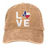 Gorra De Béisbol Unisex Love Texas Map Hip Hop Sombreros Ajustable Gorra De Náutica Idea Classic Baseball Cap Hat Adulto Shade Hat