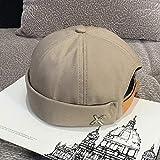 LIXUDECO Caps Cúpula de la Vendimia Sombrero for Hombre de Color sólido Terciopelo Gorros for Hombres acoplable...