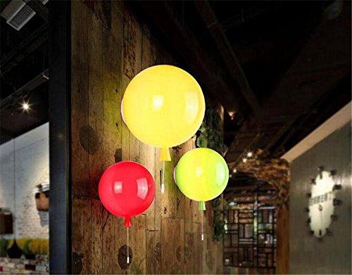 YU-K Moderne wandlamp kleur ballon LED wandlamp is perfect voor bar, restaurant en coffee winkel woonkamer slaapkamer hal, 25 cm, geel