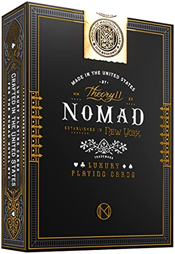 theory11 NoMad Playing Cards , Black, 3.5 x 2.6 x 0.7'