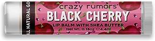 Crazy Rumors - Balsamo per labbra profumato, 4,4 ml, colore: Ciliegia nera