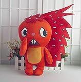 N-R Stuffed Toys Happy Tree Friends Plush Dolls Anime HTF Flippy Plush Toys Soft Red Thorn Flaky 40CM