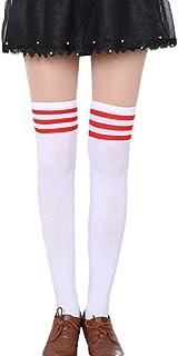 mujer Raya Escuela de Cosplay casual uniforme sobre la rodilla medias hasta el muslo calcetines largos