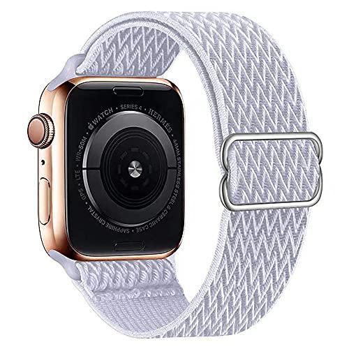 AISPORTS Compatibile con Cinturino Apple Watch 40mm 38mm in Nylon per Donna e Uomo,Cinturino Sportivo Sottile Leggero Traspirante Elastico di Ricambio per Apple Watch SE/IWatch Series 6/5/4/3/2/1