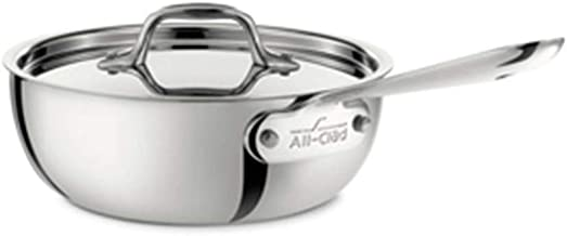 All-Clad Saucier Pan, 2-Quart,4212,White