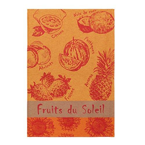 Coucke TNO-220-7089601-000-CKE Torchon Jacquard Fruits D'ÉTÉ, Coton, Rouge, 50 x 75 cm