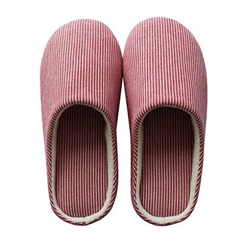 ACMEDE Pantofole Invernali Donna Uomo Peluche Morbido Antiscivolo Chiuse Scarpe Ciabatte della Camera da Letto