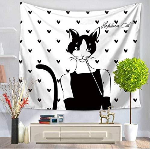 Moda Catwoman Tapiz Negro Blanco Impreso Tapiz para Colgar en la Pared Mandala Toalla de Playa Bikini Cubierta Manta , 40 '' × 60 ''