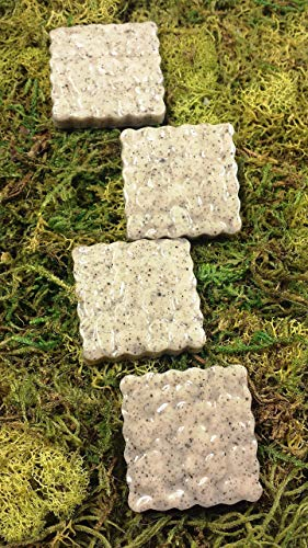 Fairy Garden Miniature Stepping Stones. Set of 4. Dollhouse, Terrarium Decor