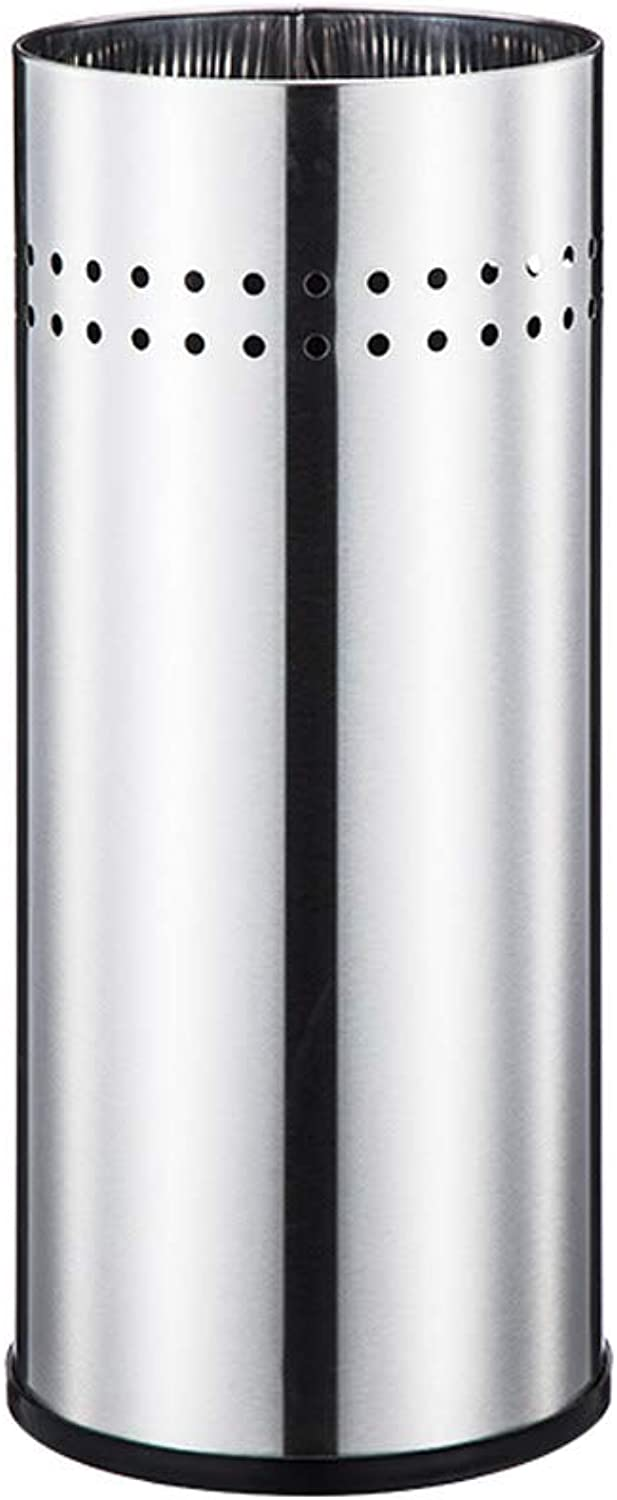 GWM Umbrella Stand Umbrella Stand Walking Stick Holder with 5 Free S-Shaped Hooks,Large Capacity Stainless Steel Tubular Metal Top Perforated, Non-Slip Base,9×22inch (D×H) (color   Silver)