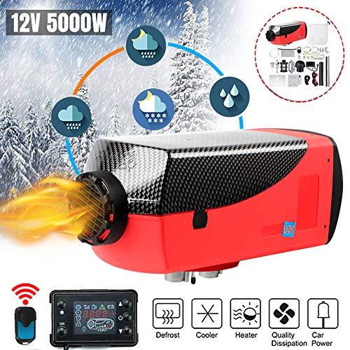 Big Save! Diesel Air Heater 12V/24V 5KW,Car Diesel Parking Heating w/LCD Monitor Display,10L Tank,Mu...