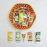 Godesi Holi Hamper With Assorted Indian Snacks Imli Pop (10 Pieces) 2 Lemon Chaat (36 G) 2 Jack-Fruit Bars (50 G) 2 Dried Amla (70 G) 1 Banana Bites (35 G) 249 G