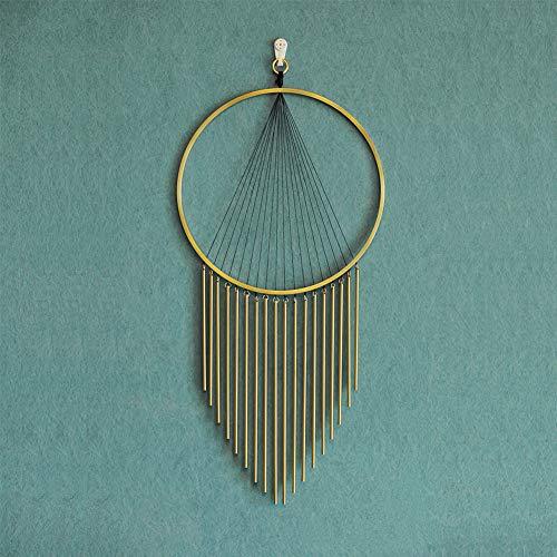 Golden Messing Quaste Wanddekor Quaste Schmuck Handgefertigt Messing Wandbehang Hauptwand-Dekoration Kunstwerk,Messing,60x30cm
