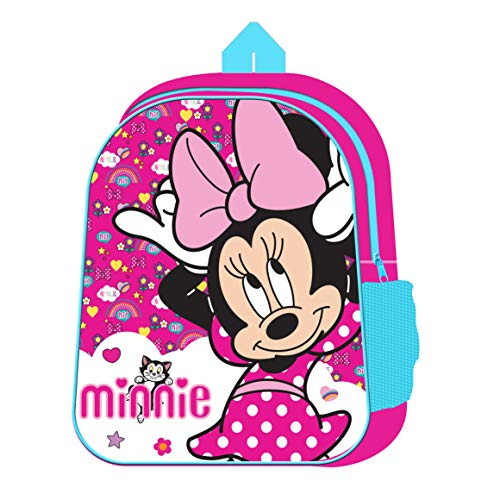 Minnie Mouse Character Junior Back Pack School Bag with Mesh Side Pocket