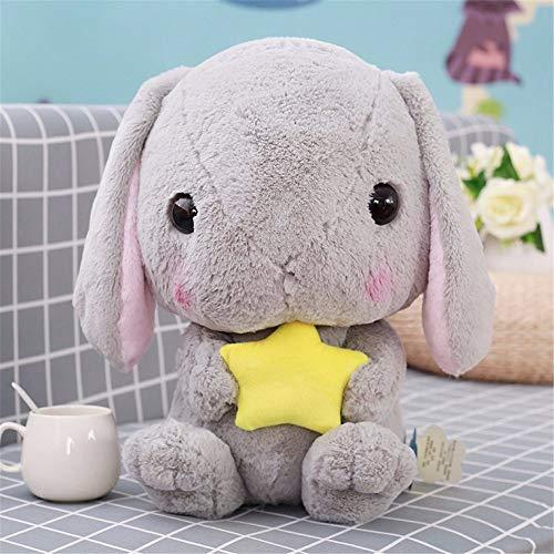 LLan Leuke Soft Lop Gevulde Rabbit Knuffels Knuffel Konijn Kids Sleeping Appease Pillow Doll Creative verjaardagsgiften for Girl 32CM (Color : Gray)