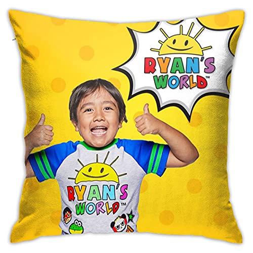 Ryan Toys-Review - Funda de cojín cuadrada para sofá, silla, sofá, dormitorio, 45,7 x 45,7 cm