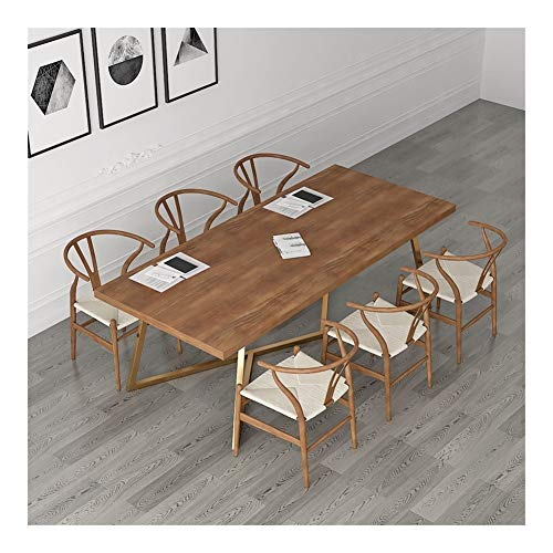 Silla sencilla y cómoda Ocio Presidente de la Conferencia moderna simple de la larga mesa de madera maciza rectangular nórdica oficina creativa for sillas de escritorio de la sala sillas de comedor si