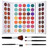 Pro 63 Colors Eyeshadow Palette with Makeup Brushes Set Highly Pigmented Matte Shimmer Make Up Eyeshadow Palette Pigmented Eye Shadow Powder Natural Colors Long Lasting Waterproof Makeup Pallet