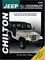 Jeep CJ/Scrambler, 1971-86 (Chilton Total Car Care Series Manuals) by Chilton(1994-09-01)