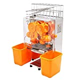 Summile Commercial Auto Feed Orange Squeezer Juicer Orange Juice Extractor Machine Juice Making for Fruit Shop Buffet Restaurant (Plastic Tank)
