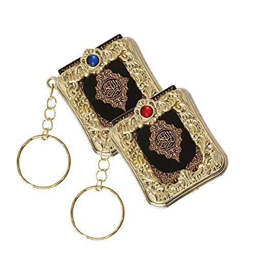 duhe189014 Schlüsselanhänger Islamischer Koran Kleiner Anhänger religiöser Schmuck Mini Koran Schlüsselanhänger Anhänger Ring