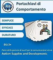 Autism Supplies and Developments- Portachiavi in plastica con comportamento visivo, Colore Blu, BKR_IT #1