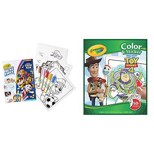 Crayola Paw Patrol Color Wonder, Mess Free Coloring Pages & Markers, Gift & Toy Story 4 Coloring Pages & Stickers, Kids At Home Activities, Gift for Kids, Age 3, 4, 5, 6, 7, Multi