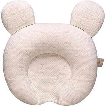 ベビー枕 赤ちゃん まくら 向き癖防止 夜泣き 寝ハゲ対策 快眠 頭の形が良くなる 通気 洗える 出産祝い 男女兼用 ベビーピロー (0〜12ヶ月向け)