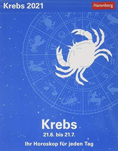 Krebs Sternzeichenkalender 2021 - Tagesabreißkalender mit ausführlichem Tageshoroskop und Zitaten - Tischkalender zum Aufstellen oder Aufhängen - Format 11 x 14 cm: Ihr Horoskop für jeden Tag