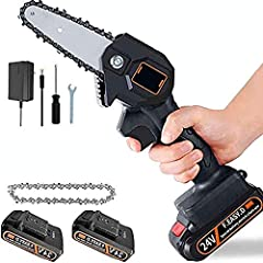 ★【One Hand Using】 This mini chainsaw using weight just about 0.7kg and a total length of only 33cm (13inch). Lightweight body, light and convenient, lightweight design, long time holding and not tired hands. Woman can also easily control and use it, ...